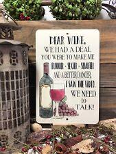 Wine Sign- Kitchen Decor - Party Decor - Metal Wine Sign - Wine Gift Wine Humor