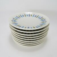 Lot of 8 Mid Century Modern Nordic Syracuse Carefree China Tea Cup Saucer Plates