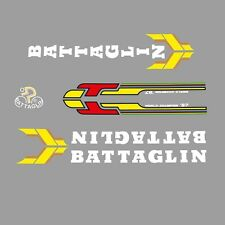 Battaglin Bicycle Decals, Transfers, Stickers - Red/Yellow/White n.305
