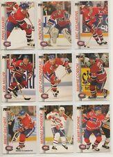1992-93 Pro Set MONTREAL CANADIENS Team Set - 11 Hockey Cards - ROY SAVARD