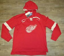 Adidas Detroit Red Wings Lace-Up Twill Crest Jersey Hoodie Jacket Men's Large