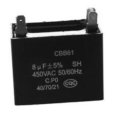 CBB61 450VAC 8uF 4 Terminal Air Conditionneur Ventilateur course condensat A2Z7