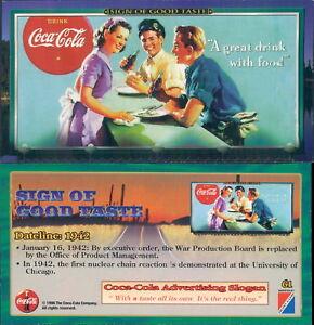 RARA ORIGINAL CARD U.S.A*SIGN OF GOOD TASTE - COCA COLA N.61*-NEW,PERFECT-N.716