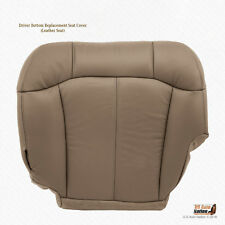 2001 2002 GMC Sierra 2500 2500HD DRIVER Bottom LEATHER Seat Cover MED TAN