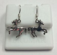 Design Dangle Style Earrings 3g Real Sterling Silver Horse Pony