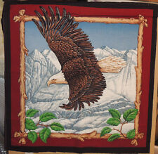 Soaring Eagle Cotton pillow fabric panel