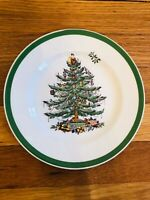 """SPODE Christmas Tree - Salad Plate - 8"""" Plate - EXCELLENT - Made in England"""