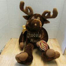 "Dan Dee Chocolate Moose Plush Stuffed Animal Scented Toy 21"" With Tags"