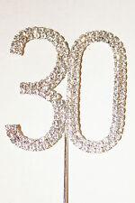 Numero 30, GRANDI STRASS CAKE TOPPER. COMPLEANNO, PEARL WEDDING ANNIVERSARIO