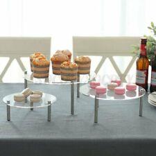 3 Tier Acrylic Cake Cupcake Stand Rack Wedding Party Dessert Display Holder S