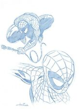 Spiderman Convention Blue Line Sketch by Spider-Man Animator - Art Drawing
