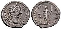 SEPTIMIUS SEVERUS (200-201 AD) AR Denarius. Rome #LP 5608