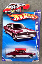 HOT WHEELS ~ 2010 MUSCLE MANIA ~1967 DODGE CHARGER ~ MAROON