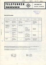 TELEFUNKEN Service Manual Anleitung HR 3000 hifi   B1504