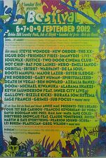 2012 BESTIVAL FESTIVAL ISLE OF WIGHT A3 POSTER NEW ORDER FRIENDLY FIRES HOT CHIP
