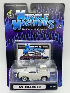 Muscle Machines 1969 Charger White 01-70 1/64 Scale FREE SHIPPING