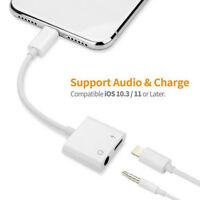For Apple iPhone X/6/7/8/plus Audio Headphone Adapter Charging Cords Splitter