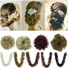 40'' 100cm Thick Hair Extension scrunchie Wrap Messy Bun Curly Ponytail Hair