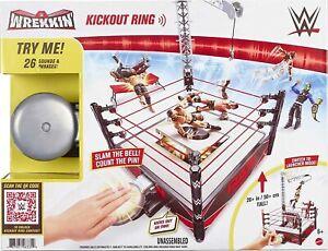 "WWE WREKKIN KNOCKOUT RING PLAYSET LAUNCHER BELL TABLE 20"" SCAFFOLD"