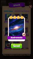 Andromeda coin master card x25