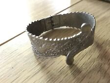 Vintage Silver Tone Metal Hinge and Clasp Bracelet Bangle Jewellery