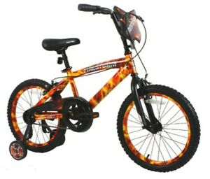 """DYNACRAFT 18"""" BOYS FIRESTORM BIKE WITH DIPPED PAINT EFFECT"""