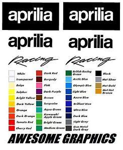 DECAL STICKERS GRAPHICS APRILIA RS 50 125 250,30 COLOUR