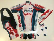 New size Medium / M - OMEGA Pharma Lotto Team Cycling Set Jersey Bib Shorts +