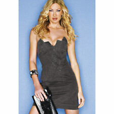 NEW CAPRICE BLACK DENIM STRAPLESS DRESS Size 6/Eur 34