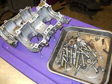 Yamaha 400 motor SW396-03162 395cc: CRANKCASE HALVES with bag o bolts