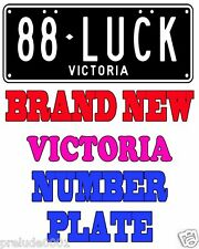 88LUCK Number Plate Personalized Victoria Brand New