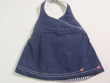 "Gymboree ""Candy Apple"" Ladybug Reversible Navy to Blue Gingham Halter Top, 3-6 m"