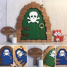 Personalised magical pirate fairy door with fairy dust and gift box bespoke gift