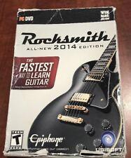 Rocksmith 2014 Edition (PC/Mac) Box Includes Cable & Stickers *new Open Box
