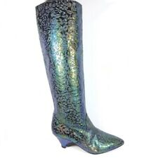 J. Reneé iridescent floral boots Italy pull on Womens 36 5/5.5