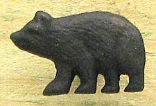 SET OF  2 Black Bear Cast Iron   Drawer Pull Knob Cabin Lodge Decor Rustic