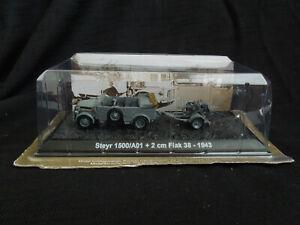 Stayr 1500/A01 + 2cm Flak 38  Diecast Amercom 1:72 German truck + flak 1943