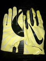 NIKE OREGON DUCKS YELLOW TEAM ISSUED ONLY PE VAPOR KNIT FOOTBALL GLOVES XL