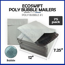 75 1 725x12 Poly Bubble Mailers Padded Envelope Shipping Supply Bags 725 X 12