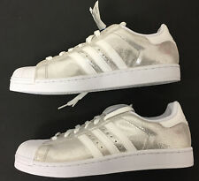 Adidas Originals Superstar 1 Silver Men's Basketball Sneakers 10 1/2  new w tags