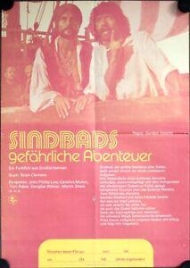 Golden Voyage of Sinbad E-German movie poster DinA2 Fantasy Ray Harryhausen