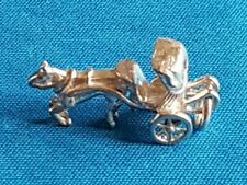HORSE AND CARRIAGE  3 GMS   STERLING  Silver   Bracelet Charm.