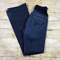 7 For All Mankind Maternity Jeans Size 32x29 Bootcut Belly Panel Dark Wash