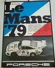 Original Vintage RARE Porsche 935 Race Poster 24 Hour LeMans '79