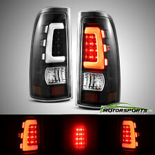 Fit 1999-2006 GMC Sierra/1999-02 Chevy Silverado LED Tube Tail Lights Left&Right