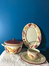 The Main Ingredients (18) Piece Seafood Themed Serving/Dinnerware Set