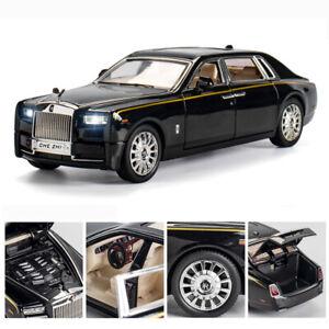 1:24 Rolls-Royce Phantom Alloy Die-cast Model Car Toy Sound&Light Kids Gift