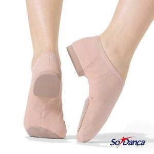 CLOSING DOWN SALE  - 75% OFF - So Danca Canvas Stretch Jazz Split Sole Shoe