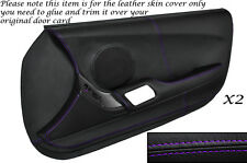 PURPLE STITCH 2X FULL DOOR CARD LEATHER SKIN COVER FITS TOYOTA SUPRA MK4 93-02