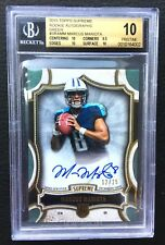 #/25 Marcus Mariota BGS 10 2015 Topps Supreme Green Rookie Auto Patch RC